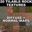 20 Tilable Rock Textures