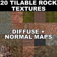 20 Tilable Rock Textures