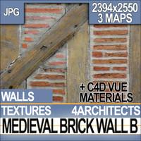 Medieval Brick Wall Material B