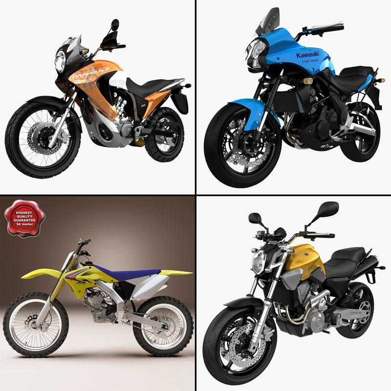 motorcycles 6 3d max