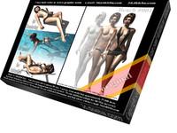 Beach 001 girl 3d model
