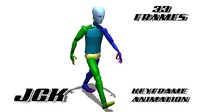 Male Fast Walk Cycle