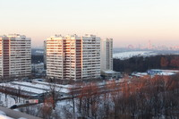 Winter background panorama