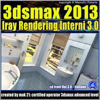 3ds max 2013 Iray Rendering interni cd front Vol 3