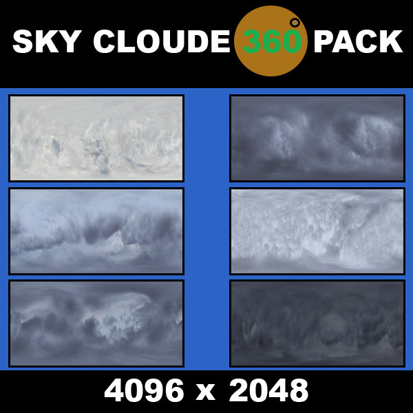 sky cloude 360 texture  pack