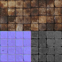 Grunge Floor Tile Multitexture