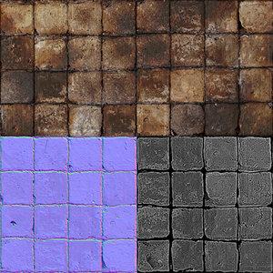 Grunge Floor Tile Multitexture