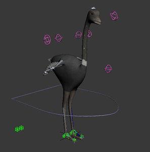 3d model ostrich