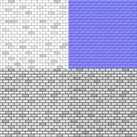 Grayscale brick wall textures