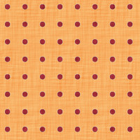Coordinated Cottons - Red on Apricot Polka Dots