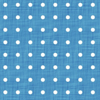 Coordinated Cottons - White on Blue Polka-Dots