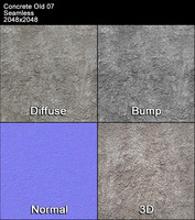 Concrete Old Seamless Texture 07