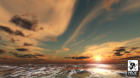 Cool Cloud Sunset Skybox