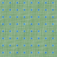 Coordinated Cottons - Blue on Green Polka-Dots