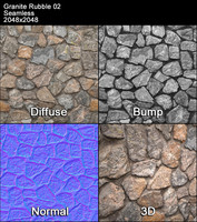 Granite Rubble Seamless Texture 02