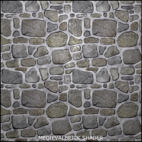 Medieval stone floor texture Medieval Tiled Tileable Medieval Brick Shader Turbosquid Texture Other Tile Brick Tileable