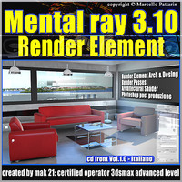 Mental Ray 3.10 3dsmax 2013 Vol.1 Render Element_ cd front