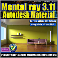 Mental ray 3.11 3dsmax 2014 Vol.5 Autodesk Material cd front