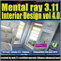 Mental ray 3.11 3dsmax 2014 Vol.4 Interior Design cd front