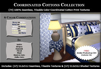Coordinated Cottons - Navy & Yellow