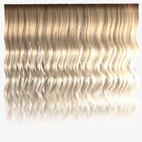 Blond wavy hair textures