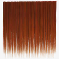 Ginger straight hair texture