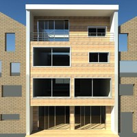 townhouse house architecture 3d rvt