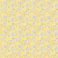 Coordinated Cottons - White on Yellow Floral