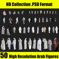 50 HD Arab Figures Collection