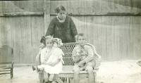 Old postcard family