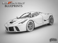 LaFerrari blueprints