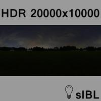 Park at night panorama