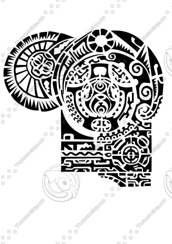 Shapes other rock tattoo psd for Maui tattoo stencil