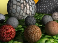 24 Textures Pack Ground Wall Plants Stone Hi-res