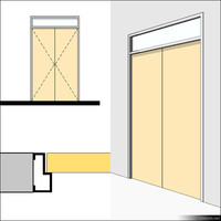 Door Swing Double Transom Metal 01494se