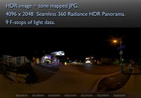 LOS ANGELES NIGHT TIME STREET SCENE 360 HDR PANORAMA # 275