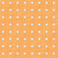 Coordinated Cottons - White on Apricot Polka-Dots