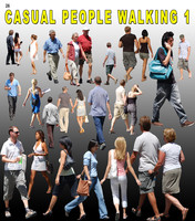 Casual People walking 1