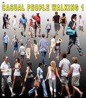 Casual People walking 1