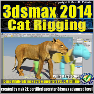 3ds max 2014 Cat Rigging v.5.0 Italiano cd front