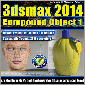 3dsmax 2014 Compound Object 1 vol 3.0 Italiano cd front
