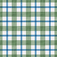 Coordinated Cottons - Blue on Green Plaid