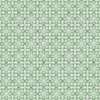 Coordinated Cottons - White on Green Damask
