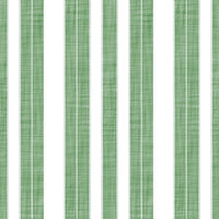 Coordinated Cottons - White on Green Stripes