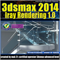 3ds max 2014 Iray Rendering Italiano cd front vol 1