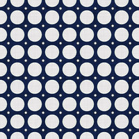 Coordinated Cottons - White on Navy Modern Dots