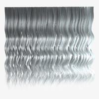 Grey wavy hair texture