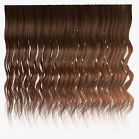 Brown wavy hair texture