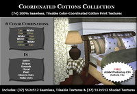 Coordinated Cottons - Tan & Olive
