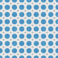 Coordinated Cottons - Blue on White Modern Dots